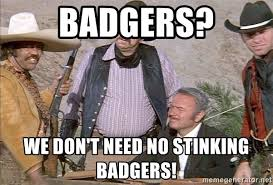 Badgers? We don't need no stinking Badgers! - Blazing Saddles Badges | Meme  Generator